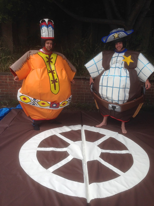 Western Themed Cowboy and Indian Sumo Suits